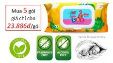 Khăn ướt Baby ABC Dino – Không mùi, dành cho bé sơ sinh – 80 sheets