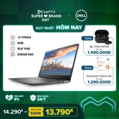 [SIÊU SALE 99] Laptop Dell Inspiron 3501 15.6 inches FHD (Intel / i3-1115G4 / 4GB / 256GB SSD / Win 10 Home SL) l Black l P90F005DBL l HÀNG CHÍNH HÃNG