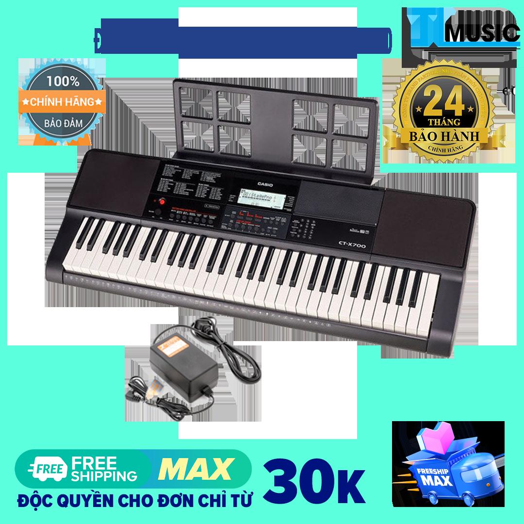 [Chính hãng] Đàn organ di động Casio CTX700 Kèm Nguồn + Giá nhạc (Casio Keyboard CTX 700)