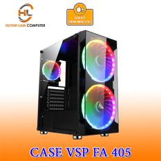 Thùng máy tính Case VSP FA 405 Gaming kính cường lực (Tặng 3 FAN RGB)