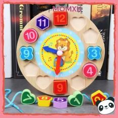 [Đồ chơi gỗ 4 món] 1 Đàn gỗ Xylophone hình thú; 1 Đồng hồ gỗ; 1 Sâu gỗ; 1 Tháp xếp cầu vồng