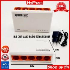 Hub chia mạng 5 cổng Totolink S505 H2Pro 100Mbps, bộ chia mạng 5 cổng giá rẻ