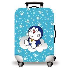 [Lấy mã giảm thêm 30%]Túi bọc bảo vệ vali -Áo vỏ bọc vali – Doremon Doreamon H115 Size S M L XL HPValiOEM