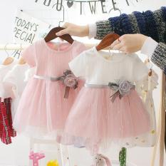 Đầm váy công chúa bé gái hoa hồng ngọt ngào 2 màu chọn lựa V2 – Doanngan2808