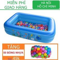 Nhà bóng Chữ nhật (120 x 80 x 35cm) Tặng 50 bóng Kamitoy Nhà banh Lều Banh Bể bơi Hồ bơi Phao bơi