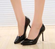Giày búp bê cao gót bóng 9p VNXK