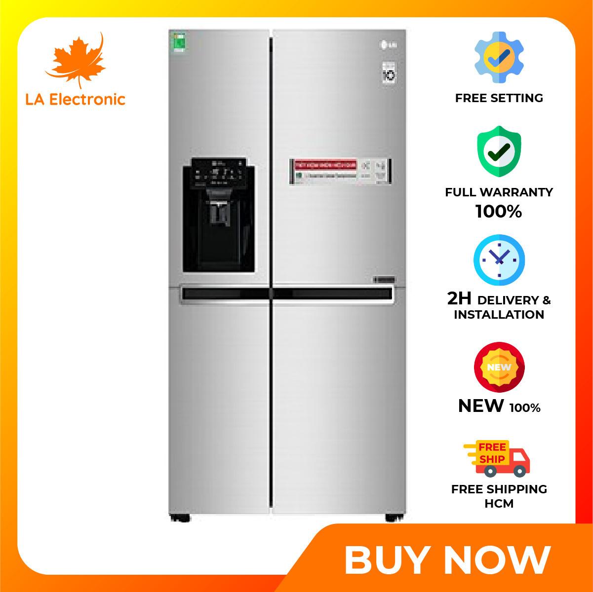Trả Góp 0% – Tủ Lạnh LG Inverter 601 lít GR-D247JDS – Miễn phí vận chuyển HCM