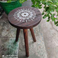 đôn gỗ tròn 3 chân, 23*42cm