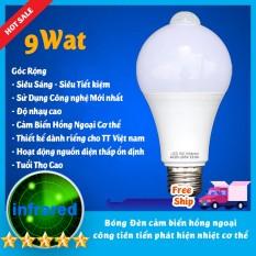 Bóng đèn led Cảm biển chuyển động, Cảm Ứng Thân nhiệt Thiết kế cho thị trường VN Siêu Nhạy, Siêu Tiết Kiệm Độ sáng cao 9W-7W