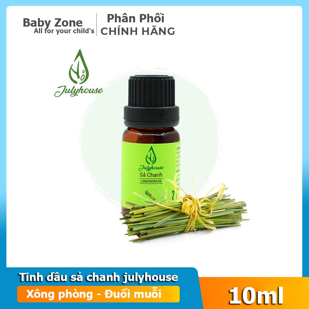Tinh dầu bạc hà – sả chanh – cam ngọt – tràm gió xông phòng đuổi muỗi cho bé Julyhouse 10ml
