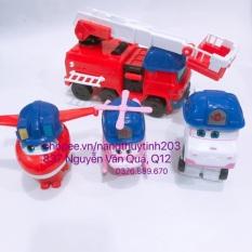 [Máy bay siêu đẵng][HOT][Có đèn nhạc] Hộp đồ chơi máy bay siêu đẵng dành cho bé cực đẹp (3 máy bay và 1 xe – MS 268)