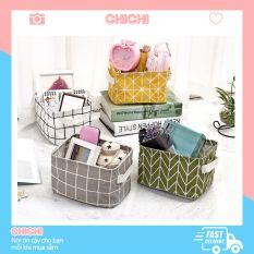 Giỏ vải mini đa năng đựng mỹ phẩm đựng đồ cá nhân văn phòng ChiChi TV01