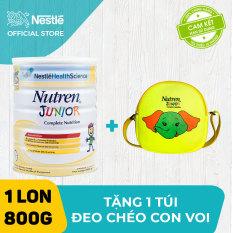 Sản phẩm dinh dưỡng y học Nutren Junior cho trẻ từ 1-10 tuổi 800g + Tặng 1 túi đeo chéo con voi (Mẫu ngẫu nhiên)