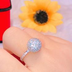 [ SIÊU GIẢM GIÁ ] Nhẫn nữ, nhẫn trái châu tròn mạ bạc dát đá pha lê sáng lấp lánh lung linh thiết kế siêu dễ thương tinh tế Trang Sức Gami KN07091918 – làm quà tặng bất ngờ vô cùng ý nghĩa