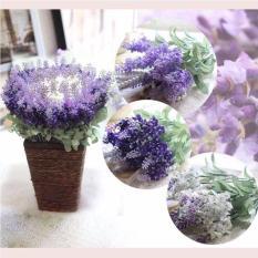 Hoa giả – Cành hoa lavender độc đáo – Hoa lụa trang trí phòng khách – hoa oải hương làm đạo cụ chụp ảnh