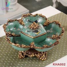 Khay đựng mứt kẹo gốm sứ nghệ thuật KHA002 – Mô hình hoa năm cánh