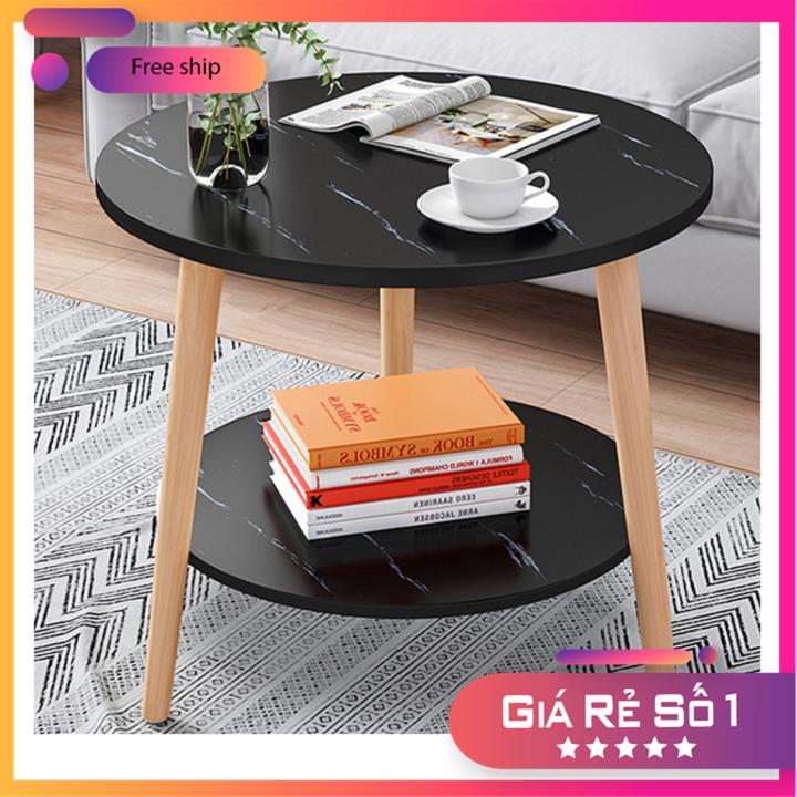 💥RẺ VÔ ĐỊCH💥 Bàn trà sofa gỗ mạ vân đá có 2 màu, bàn trà gỗ nhỏ 50cm BAT025