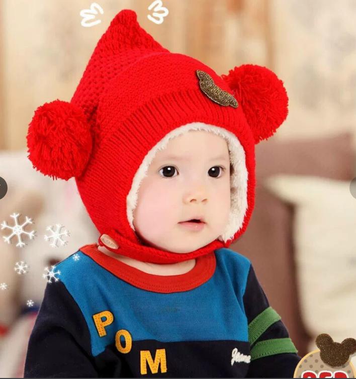 Mũ len Mickey cho bé