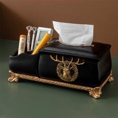Hộp đựng giấy kiêm khay đựng đồ 2 trong 1 – Hộp đựng giấy đa chức năng phong cách Vintage sang trọng, chất liệu ABS bền đẹp trang trí nhà cửa-DecorShop