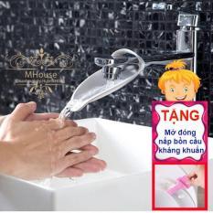 Mua 1 Tặng 1. Dụng cụ rửa tay kéo dài dòng nước gần bé. Tặng 1 dụng cụ mở đóng nắp bồn cầu kháng khuẩn