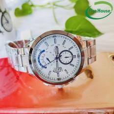 Đồng hồ nam, đồng hồ chính hãng dây kim loại mặt trắng, đồng hồ nam đẹp, đồng hồ nam chính hãng, đồng hồ nam giá rẻ – BOSCK 3116
