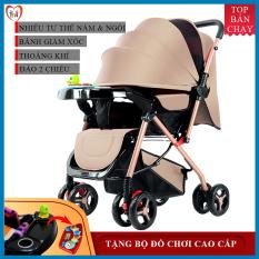 Xe nôi – xe đẩy em bé 2 chiều phiên bản cao cấp nhiều tư thế nằm ngồi, chất liệu thoáng mát, bánh xe có giảm sóc, khóa đai an toàn, có thể gấp gọn – BẢO HÀNH 2 NĂM, ĐỔI MỚI 1-1 TRONG 7 NGÀY NẾU CÓ LỖI