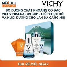 [Siêu thị Lazada] – Bộ dưỡng chất khoáng cô đặc Vichy Mineral 89 30ML giúp phục hồi và nuôi dưỡng cho làn da căng mịn