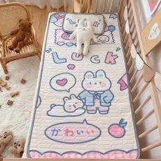 批发大版卡通幼儿园床婴儿床宝宝儿童凉感丝乳胶凉席