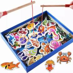 Đồ Chơi Câu Cá Nam Châm 3D Bằng Gỗ An Toàn Cho Bé, Đồ Chơi Câu Cá, Đồ Chơi Cho Bé, Đồ Chơi Tư Duy