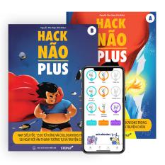 Hack Não Plus (trọn bộ 2 cuốn A, B) + App Hack Não Pro App dạy phát âm của người bản xứ và 4 buổi học Livestream mỗi tuần – tự tin đọc hiểu và giao tiếp tiếng Anh, luyện siêu trí nhớ sau 50 ngày