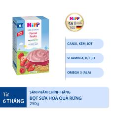 [QUÀ TẶNG HOT] Bột sữa ăn dặm hoa quả rừng HiPP Organic Milk and Cereal 250g
