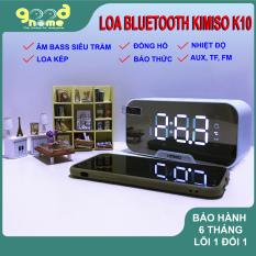 [HÀNG CHÍNH HÃNG] Loa bluetooth không dây KIMISO K10 GOOD HOME Đa chức năng Đồng hồ báo thức Âm thanh siêu Bass Đàm thoại Hiển thị nhiệt độ