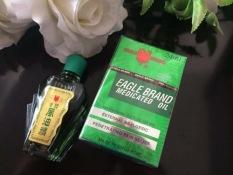Dầu gió xanh Mỹ 2 nắp nhập khẩu Eagle Brand Medicated Oil