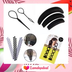 ♥ Lamdepdeal – Combo 4 dụng cụ tạo kiểu tóc cho bạn gái thoải thích sáng tạo kiểu tóc cho riêng mình – Dụng cụ tết tóc, thắt bím tóc – Dụng cụ làm tóc