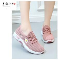 (Có 2 Màu) Giày vải nữ thoáng khí Fashion hoa cúc – MinhNhat