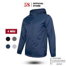 Áo Khoác Nam Vải Gió 5S (3 Màu) Thiết Kế 2 Lớp, Mũ Liền, Dáng Trẻ Trung, Chống Thấm Nước, Chống Gió (AKG20009)