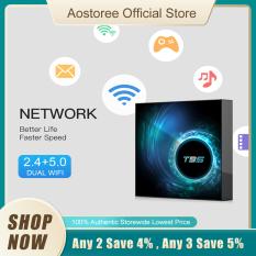 T95 Android 10.0 Smart TV-Box Allwinner H616 Quad-core 64 Bit 4K Media Player 6K HDR H.265 VP9 2GB / 16GB 2.4G & 5G WiFi BT5.0 100M LAN LCD Display
