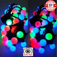 Dây đèn Led Bi dài 10m nhấp nháy nhiều màu dùng trang trí Sân Vườn, Gia Đình, Quán, Noel, … Chúc Mừng Năm Mới quà Tết 2021