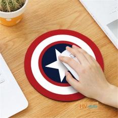Miếng lót chuột dễ thương hình tròn 20cm – hình đội trưởng Mỹ . Bàn di chuột tròn siêu cute nhiều mẫu mã