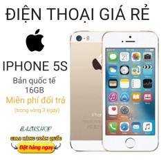 Điện thoại giá rẻ 5s, bản quốc tế , dung lượng 16GB, ram 1 GB, bảo hành 3 tháng