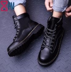 Giày Nam Boot Nam Cổ Cao Màu Trơn Bụi Bặm G2616
