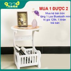 (Mua 1 tặng 1) Kệ bàn tròn đa năng Kèm khăn trải bàn Tô điểm cho căn phòng của bạn thêm sang trọng,giúp căn phòng của bạn thêm gọn gàng và ngăn nắp hơn