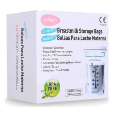 Túi trữ sữa Unimom Compact 210ml hộp 60 túi / 30 túi / 20 túi / 10 túi, chất liệu nhựa cao cấp không BPA, an toàn cho bé khi sử dụng, không sợ tràn hay rò rỉ sữa