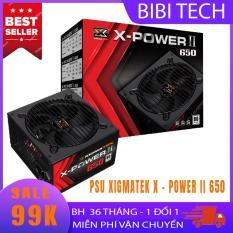 Nguồn máy tính Xigmatek X-Power II 650 – 600W 80Plus – PSU; nguồn PC; nguồn máy tính để bàn – BiBiTechs