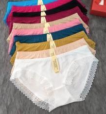 Bộ 10 Quần lót nữ su thông hơi phối ren quần chíp sịp quan lot nu 5866 – TinTin888