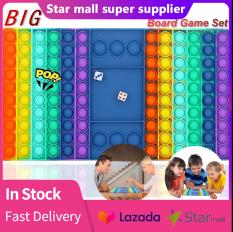Kích thước lớn Pop It Fidget Đồ chơi Cầu vồng Popit Bảng trò chơi Bong bóng Đẩy căng thẳng Đồ chơi giảm căng thẳng cho trẻ em Gia đình