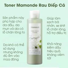 Nước Hoa Hồng Rau Diếp Cá Mamonde Pore Clean Toner 250ml.