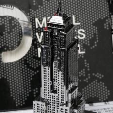 Mô hình kim loại lắp ghép lắp ráp trang trí trưng bày 3D Toà Nhà Empire State bằng thép không gỉ (Tặng dụng cụ lắp ghép khi mua 2 bộ bất kỳ)