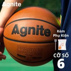 Quả bóng rổ số 6 cao cấp đạt tiêu chuẩn Agnite – da PU cực bền, đẹp, chống bẩn, không mòn, hàng chuẩn chính hãng – F1158