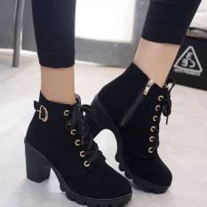 Bốt nữ, giày cao cổ nữ 7 phân chất liệu da mềm mại, boot nữ chuẩn hình